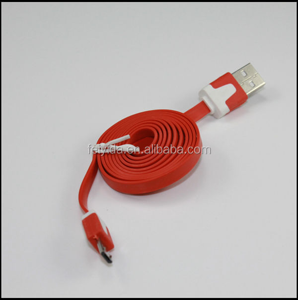 Flex flat micro copper optic cable micro usb 3.0 cable for samsung