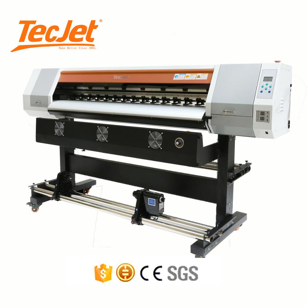 TECJET Inkjet Large Format Roland Photo Eco Solvent Printer Digital Money Banner Sticker Wall Flex Printing Machine Price