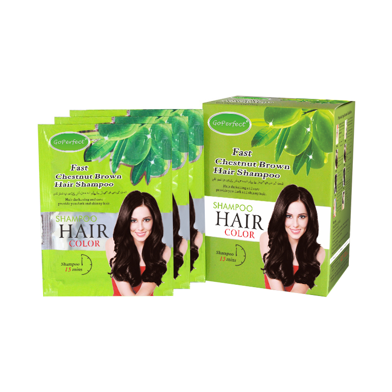 Wholesale OEM Factory Price Go Perfect Fast Magic Black Safe &amp; Natural <strong>Hair</strong> <strong>Color</strong> Shampoo For Covering Grey <strong>Hair</strong>