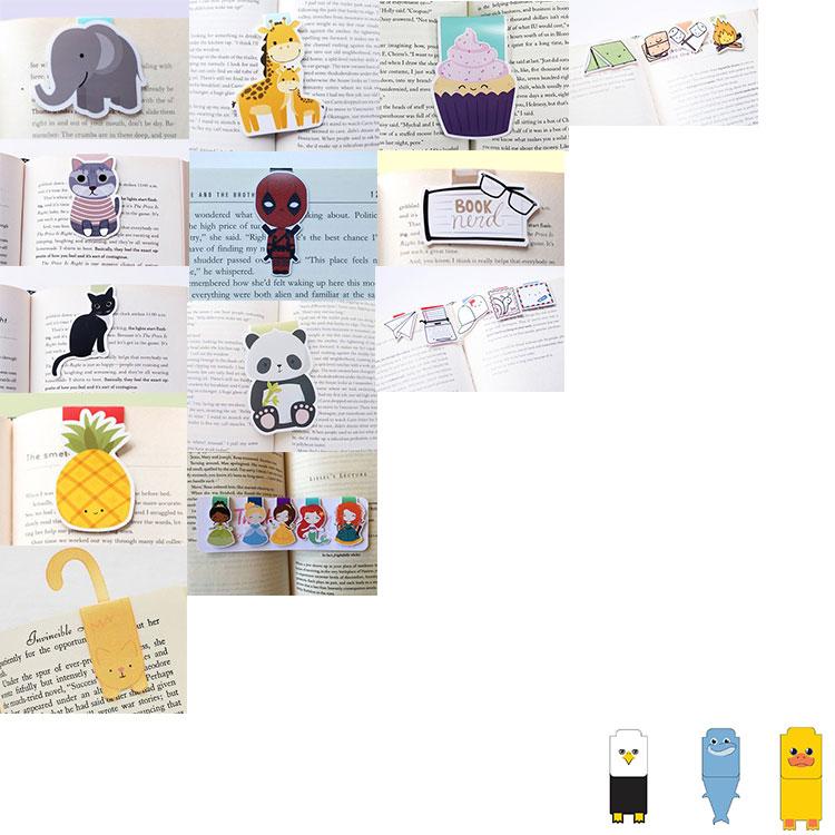 Jiahong custom metal souvenir gift printed magnetic bookmark/magnet bookmark