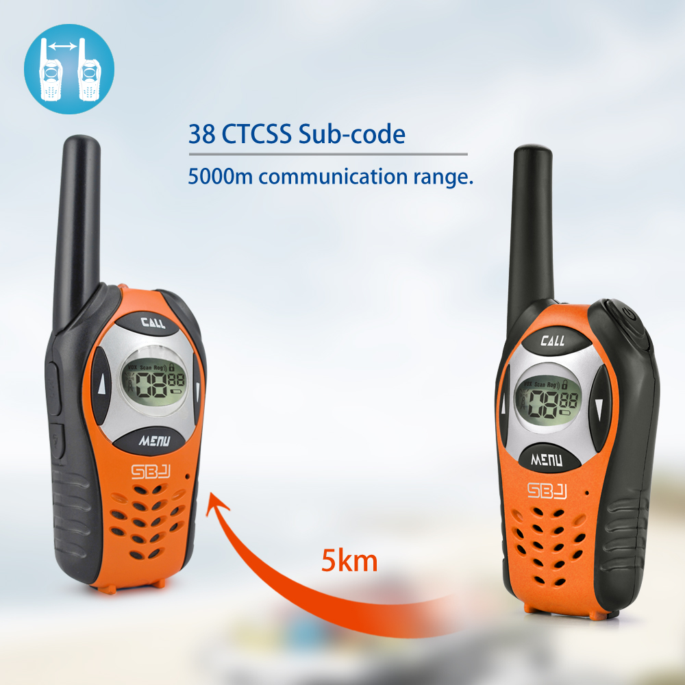 5km walkie talkie 2-way radio phone best for kids children at school camping outdoor