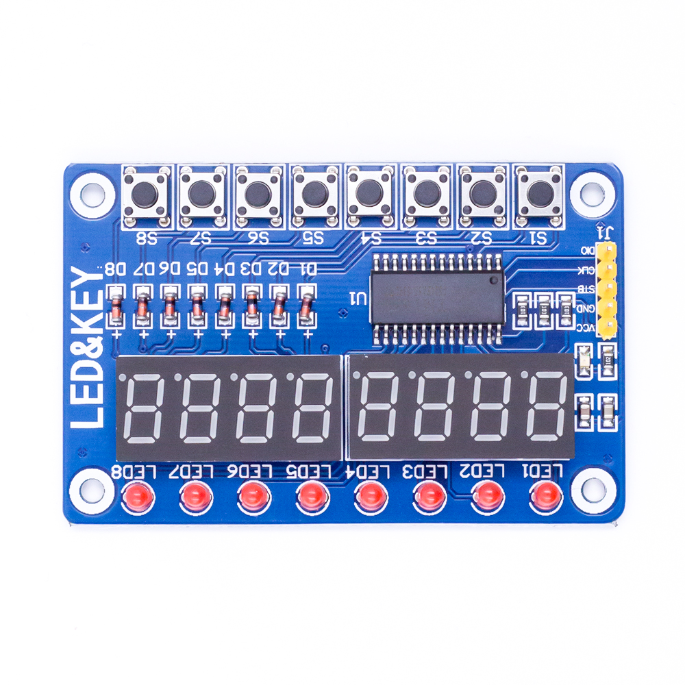 Factory Outlet TM1638 Button Digital  LED Display Module for Arduino / Soon reply