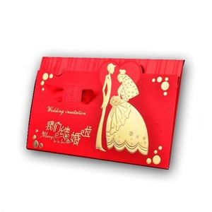 Best Price Custom Hot Stamping Chinese Wedding Invitation Card Design