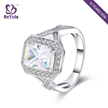 Single design zircon stone 925 silver ring for wedding