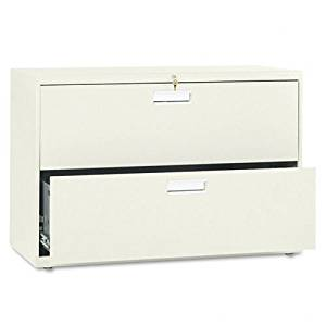HON : 600 Series Two-Drawer Lateral File, 42w x19-1/4d, Putty -:- Sold as 2 Packs of - 1 - / - Total of 2 Each