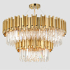 Big Home Lighting Luxury K9 Crystal Chandeliers & Pendant Lights Gold