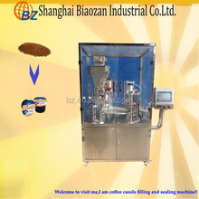Automatic plastic cup sealing machine,coffee capsule filling and packing machinery