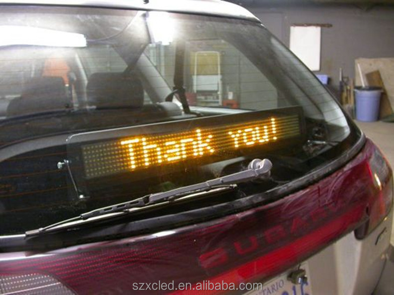 Hot! Single lines text Vehicle 12V Window suction cups scrolling message advertising LED display for car