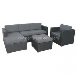 Comfortable fabric rattan furniture synthetic cheap lounge outdoor sleeper sectional sofa
