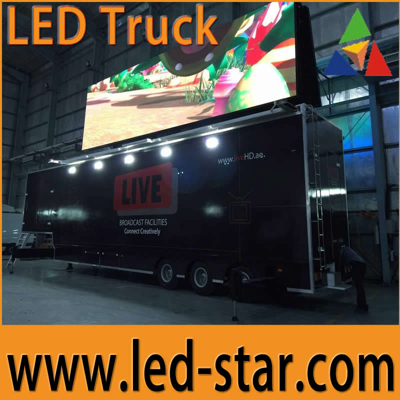 Hotstar outdoor full color P16 mobile trailer led sign advertsing board