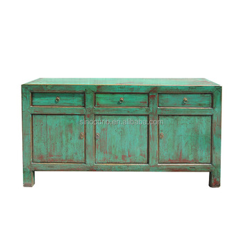Oriental Antique Chinese Vintage High Gloss Lacquer Distressed Handmade  Furniture