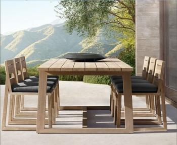Weathered Teak Patio Garden Teak Outdoor Dining Table ...