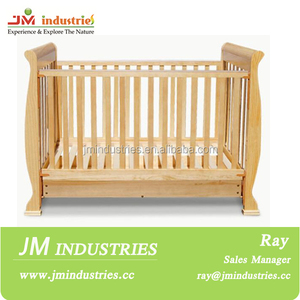 best quality cheap unfinished wooden baby crib