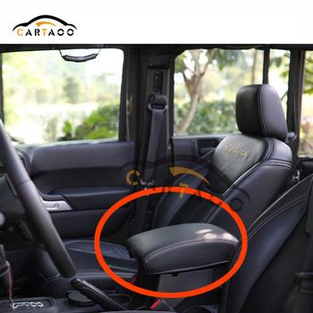 Multifunction Black Leather Center Console Armrest Pad Cover For Jeep  Wrangler JK 07 17