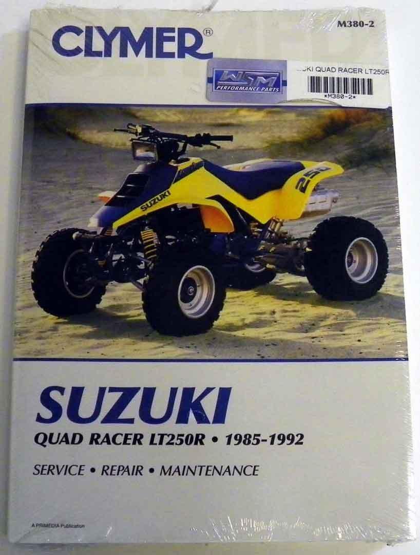 Get Quotations · ATV/Moto-X Suzuki Clymer Manual Models Quad Racer  1985-1992 WSM M380
