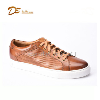 d38b72e86146 2018 new men breathable casual shoes custom leather sport sneakers for men
