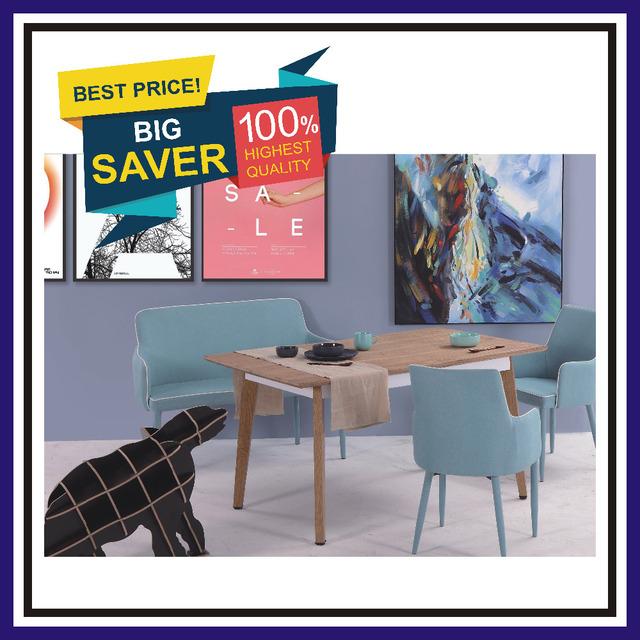 Yukon Dining Room Set MDF Table Furniture Chair Cheap