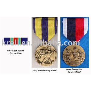 Zinc alloy metal medal/trophy award with lanyard