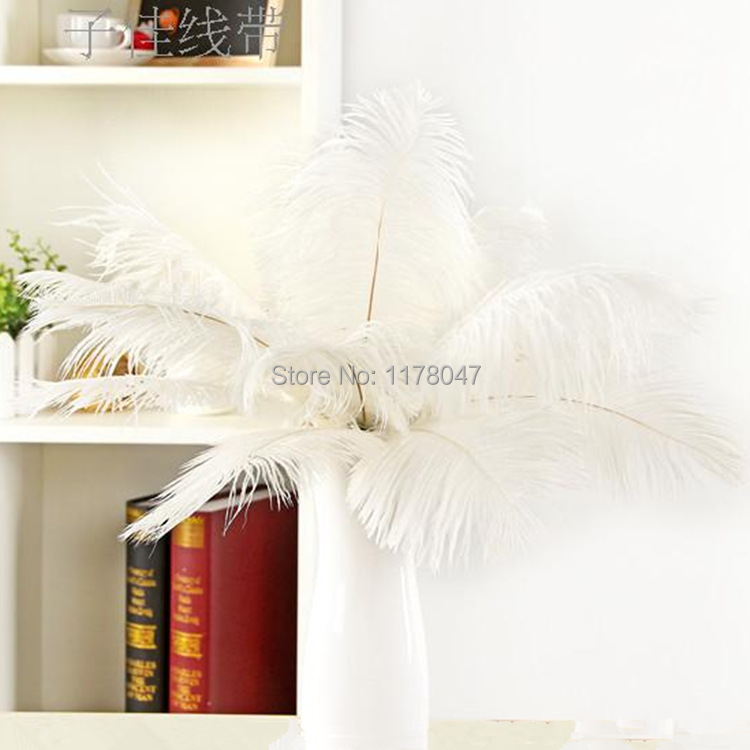 lot plumes wholesale price sale! white ostrich feather 40-45cm for wedding/carnival dress jewelry centerpieces craft