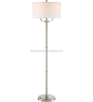 Saa australia new modern nickel iron standing floor lamp with saa australia new modern nickel iron standing floor lamp with lampshade for hotel decoration aloadofball Gallery