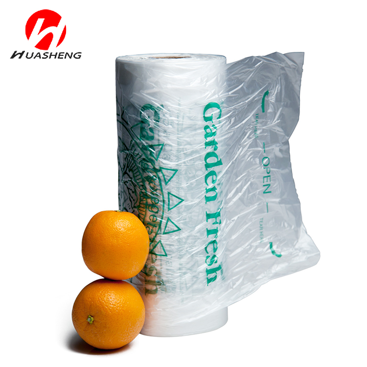 transparent clear hdpe shoppers bag plastic T-shirt bags on roll