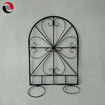 Iron Wall Flower Vase Holder Metal Wall Mounted Flower Pot Holder Outdoor Hanging Planters & Iron Wall Flower Vase Holder Metal Wall Mounted Flower Pot Holder ...