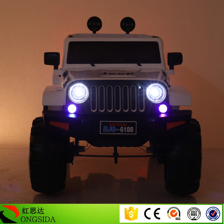Factory Wholesale Kids Driving Car Cool Style Jeep Electric child 2 Seats Toy Car Truck