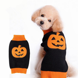 RoblionPet Soft Knit Pet Halloween Pumpkin Clothes Dog Christmas Sweaters
