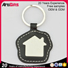 easy and simple to handle hottest sales house leather metal key ring