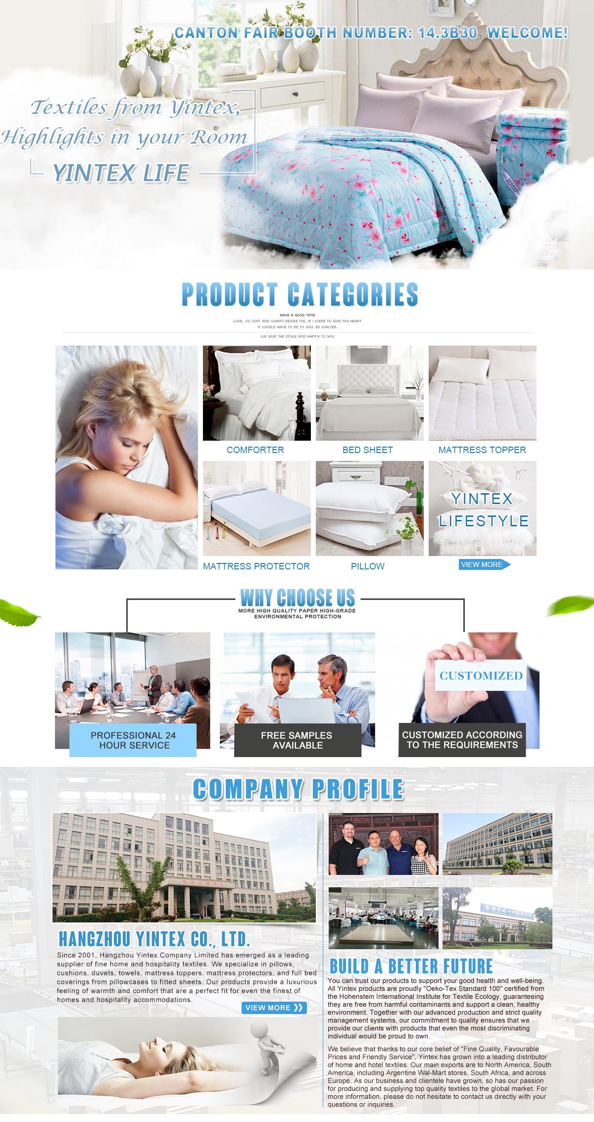 Le Vie Del Cotone Copripiumino.Hangzhou Yintex Co Ltd Duvet Pillow