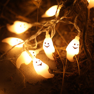 Halloween Light Strings Battery Box Led Pumpkin Light Strings Ghost Bat Christmas Lights
