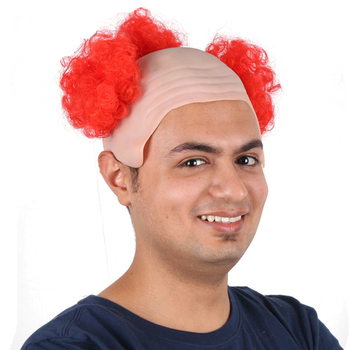 Cheap Funny Bald Head Wig With Hair Buy Cheap Clown Wigbald Head Wig With Hairhead Bald Wig Product On Alibabacom
