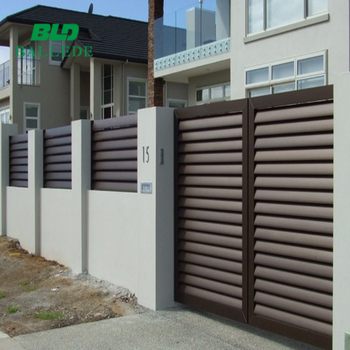 Prefab Aluinum Louvre Fence Grill And Gate Designs Buy