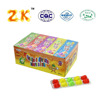 Halal fruit shape multi flavor jelly cubes candy 30pcs