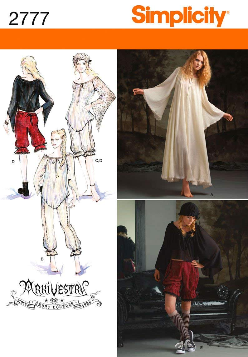 Simplicity Sewing Pattern 2777 Misses Costumes, R5 (14-16-18-20-22)