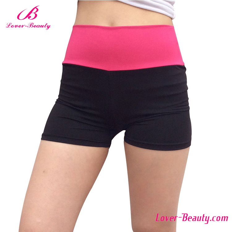 OEM service pink waist women cycling sport compression shorts