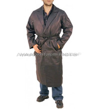 Single Breasted Attractive Mens Leather Coat AP-2904