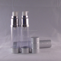 Aluminum Plastic Airless Bottle in Stock Airless Jar 50ml