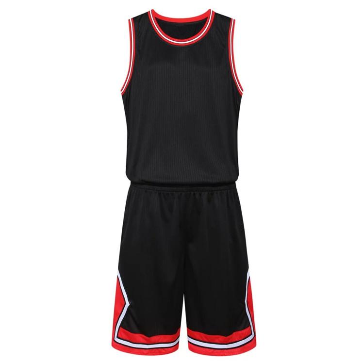 2019 best seller custom made tüm siyah erkek boş süblimasyon basketbol formaları