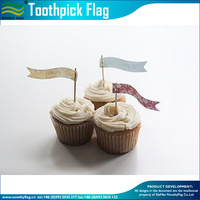 Cupake picks decoration toothpick flag for cocktail party