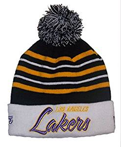 d2871d16a59 New Era Los Angeles Lakers Cuff Knit Beanie w  Pom One Size Fits Most Hat