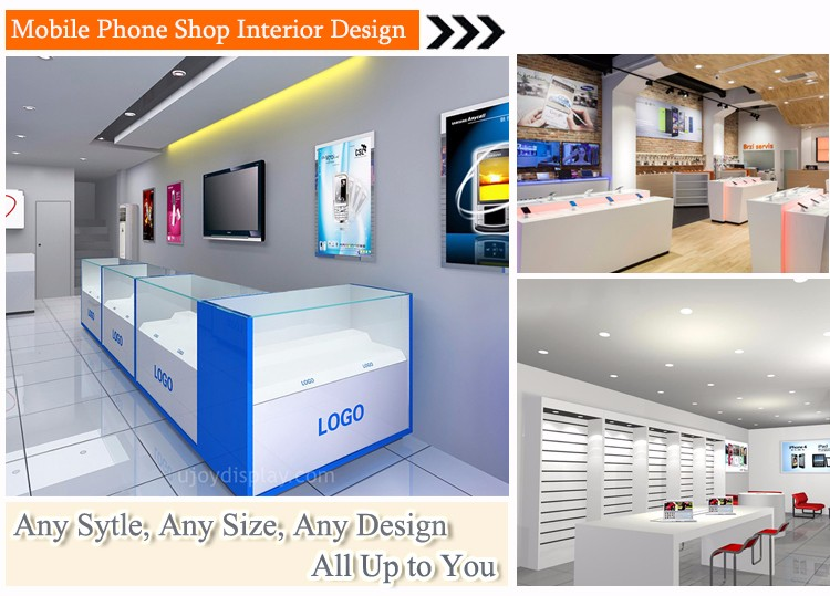 Retail Custom High End Mobile Phone Shop Decoration Furniture Design For