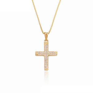 32292 Xuping white zircon color cross shaped pendant for Christmas gifts