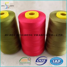 20S/2 40s/2 polyester spun yarn for sewing thread 3000yard/meters and 5000yard/meter dyed and raw white- high tenacity