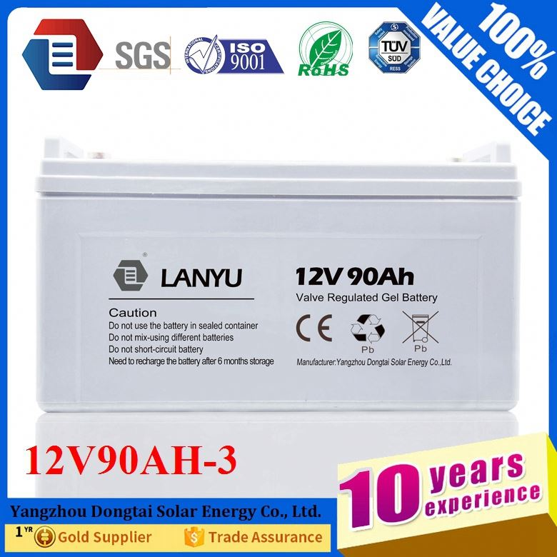 Auto battery 12V 90ah Long Cycle Life Car Batery/LYBYGEL12V90A356