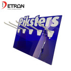 China made Countertop customized screen printing logo colored acrylic hanging display stand