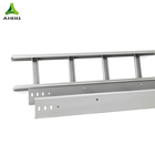 Factory 200mm cable tray ladder type solid type aluminum cable tray price with customized size