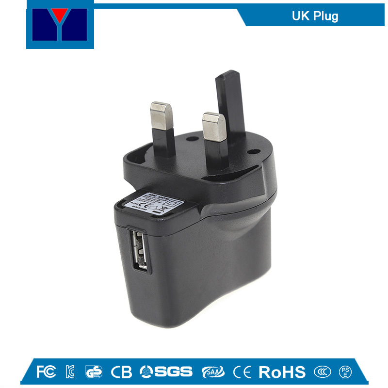 Universal travel adapter 5V 1A USB power adapter with UK US JP EU AU Plug