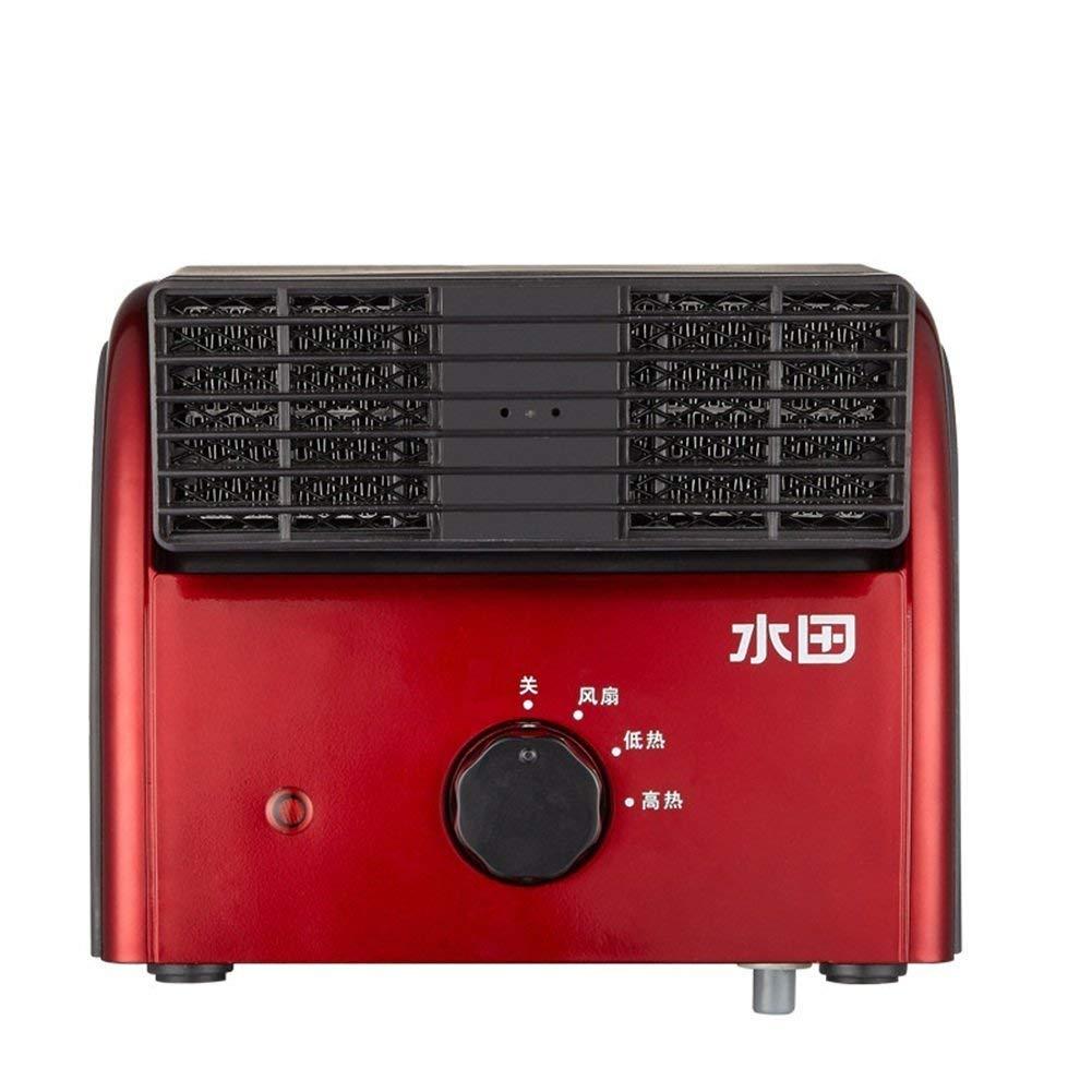 FH Electric fan Mini fan Mute Household student dorm room Bed office Small fan Desktop Leafless desktop (Color : Red)