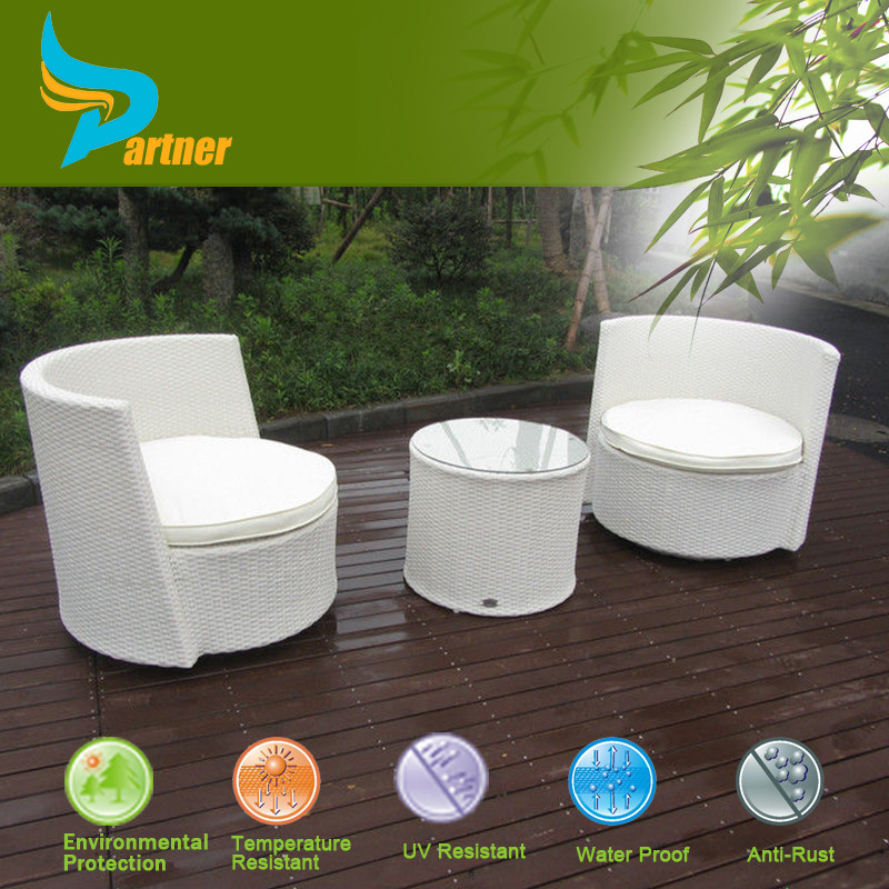 Outdoor muebles de jard n patio blanco barato garden sofa for Muebles de rattan para jardin baratos